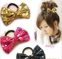 Wholesale sequined headdress hair accessories bow hair band made Shengpi tendons