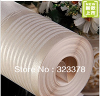 other Waterproof Living Room Non-woven fabrics brief vertical stripe wallpaper modern wall paper rolls tv background mural,0.53*10m,Free Shipping,Wholesale