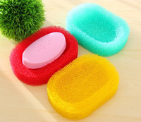 Bath bath and body brushes - 2014 new fashion personal care sponge bath accessories sponge body and easy to dry absorbent cleaning brush bath soap box