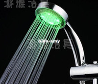 Wholesale Pink blue red color Temperature Sensor LED Shower Head Bathroom Sprinkler spray head sanitary ware