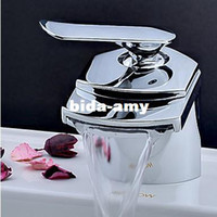 other other other Free shipping brass basin faucet, big mouth waterfall faucet,single handle tap , bathroom mixer tap LH-8031