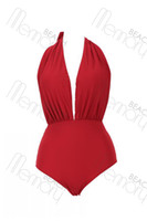 Wholesale Sexy One Pieces Brazil swimsuit bikini naked red swimwear women beach bathing suit new swimsuit
