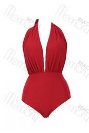 Wholesale Sexy One Pieces Brazil swimsuit bikini naked red swimwear women beach bathing suit new swimsuit