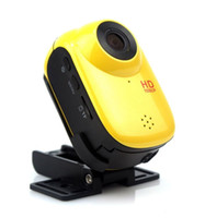 Wholesale HD P Sports Helmet Action Waterproof Bike Surfing Outdoor Sport Mini DV Dash Car DVR Camera Cam SJ1000 Yellow