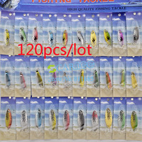 Wholesale 120Pcs Colorful Super Fishing Lure Crankbait Bass Minnow Baits Hook Fishing Tackle NK30 TK0812