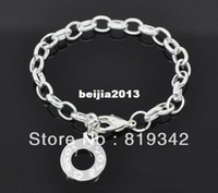 Wholesale Strands Silver Plated quot Love quot Charm Bracelets Fit Link Chain Bracelet Charms For Kids Children cm