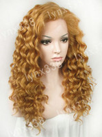 Curly blonde lace front wigs - inch Long Curly Blonde Synthetic Lace Front Wig Women s Wig N3 R