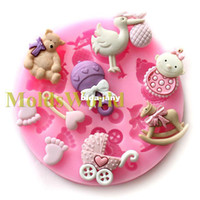 Wholesale Mini Baby Doll Theme Food Grade Silicone Mold Chocolate Cake Decorating Heat Safe Mould For Polymer Clay Crafts