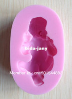 Wholesale 1PCS Silicone Baby D Mold Cookware Dining Bar Non Stick Cake Decorating fondant soap mold