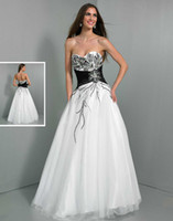Cheap Formal Ceremony Beaded Sweetheart Neckline Long Party Dress Black Corset Tulle Floor Length A-line Wow Prom Dresses Gowns Free Shipping 2014