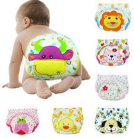 baby diaper pants - Baby Girls Boys Reusable Cloth Diapers Animal Cartoon Pattern Infant Toilet Pee Potty Training Pants Kids Underwear Baby Nappies B2831
