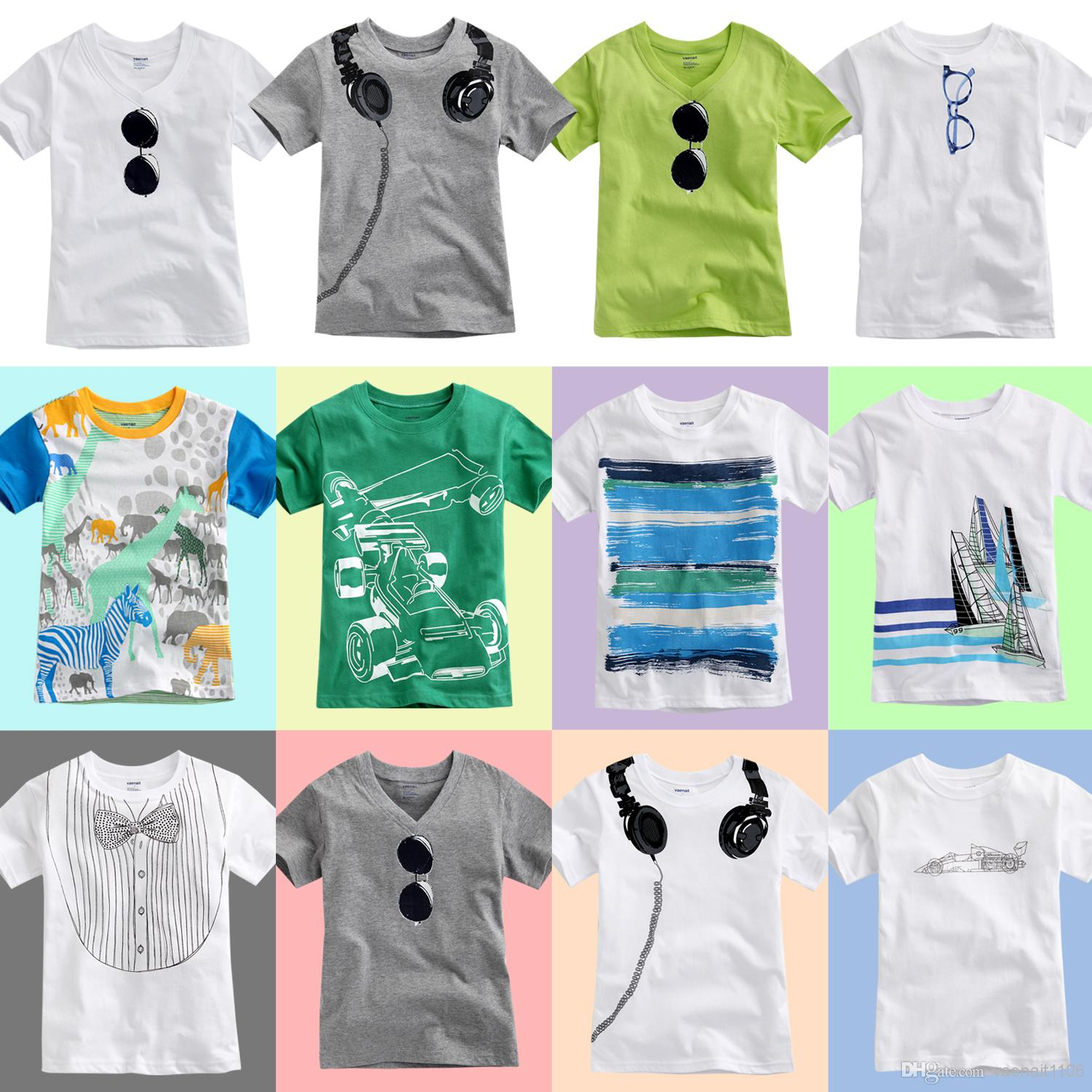 2017 wholesale baby kids children 39 s summer outfit boy 39 s o for 100 cotton v neck t shirts wholesale