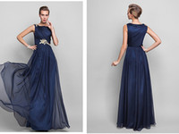 Cheap Reference Images Chiffon Evening Dresses Best Sheath/Column Bateau Royal Blue Mother Of The Bride Dresses