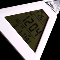Wholesale 10 Hot LED Color Changing LCD Display Alarm Clock Thermometer Gif Worldwide FreeShipping