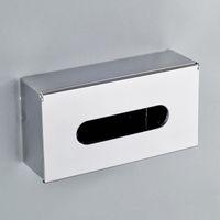 Wholesale Stainless steel rectangle fashion paper napkin tissue box pumping tissue box vehienlar table napkin paper box