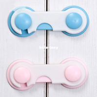 Wholesale 5PCS Blue Pink door drawer fridge Furniture cabinet children refrigerator children safety locks child Kids baby tough plastic