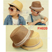 Wholesale Hot Sell Baby Boys Jazz Caps Children Fedora Hats Kids Straw Fascinator Hats Headdress Party Hats