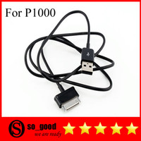 Wholesale 1M USB Charger Data Cable For Samsung Galaxy Tab P1000 Black With logo