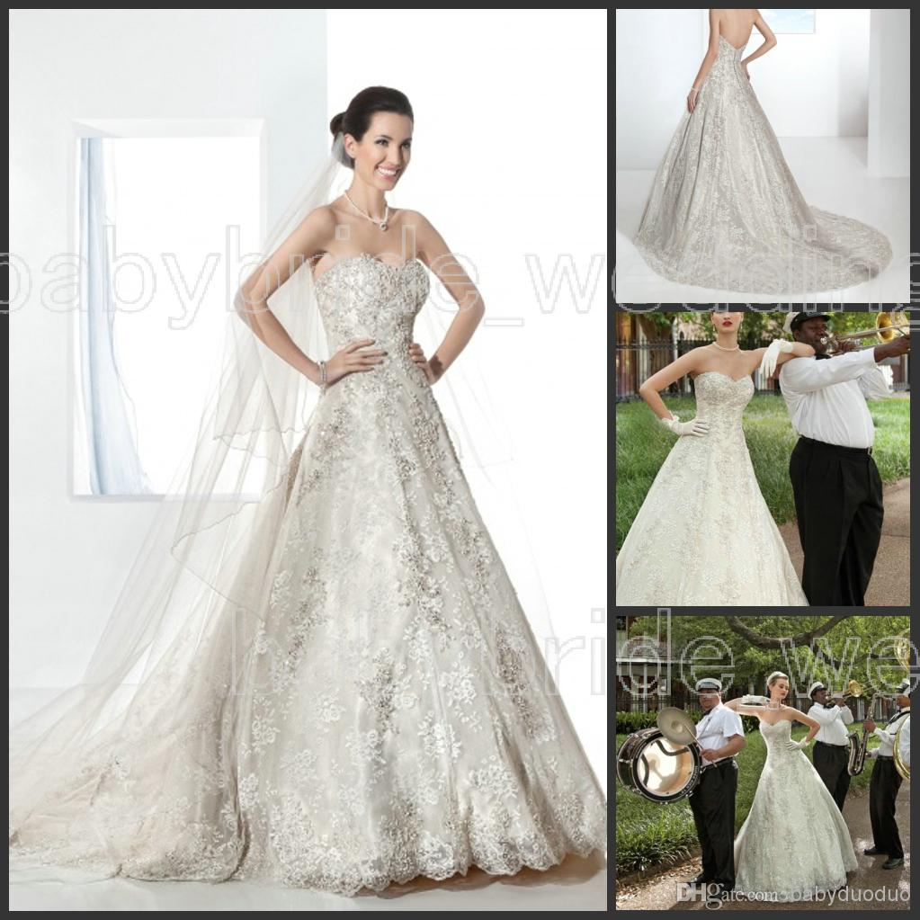 Wholesale Demetrios Wedding Dresses : Demetrios bridal sweetheart lace wedding dresses brazil