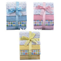 Wholesale baby cotton soft and comfortable newborn cotton sheets Count Flannel Receiving Blankets