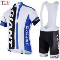 Wholesale popular Giant Cycling jersey Short Sleeve Bike Bicycle Wear Bib Shorts comfortable Outdoor Uniforms