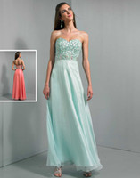Cheap Attractive Party Beaded Sweetheart Long Pageant Dress Coral Organza Ankle Length A-line Zipper Lovely Wow Prom Dresses Gowns 2014