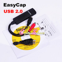 Wholesale High Quality USB Easycap DC60 TV DVD Vhs Video Adapter Capture Card Audio AV Capture