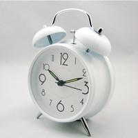 Cheap luminous alarm clock mini circle simple design table ring alarm clocks creative desk alarm gift clocks for promotion
