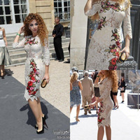 2014 Myriam Fares high neck sheer lace short prom dresses ap...