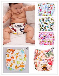 Wholesale 2014 Multicolor Baby Cloth Diapers Suppliers Cartoon Infant Baby Reusable Toilet Pee Potty Training Pants Cloth Diaper B2830