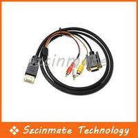 1.5M HDMI à 3 RCA VGA HD15 vidéo Audio AV Component Cable Vente en gros