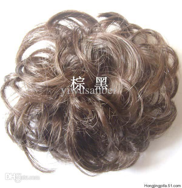 Curly Bun Hair Pieces Scrunchy Hair Bun Pieces