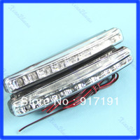 Turn Signals Honda Light Sourcing 2X Car 8 LED DRL Driving Daytime Running Day LED Light Head Lamp Super White New +Free Shipping