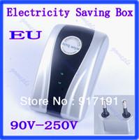 Wholesale Energy Saver Box KW Type Power Electricity Saving Box US EU Plug V V