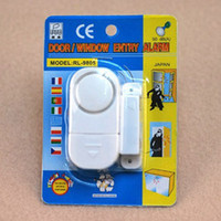 Wholesale Home Security Alarm Wireless Sensor Door Window Entry Burglar Alarm Bell White