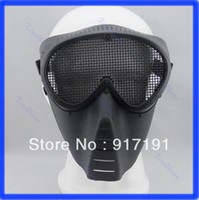 Wholesale 2013 Paintball Airsoft Gear Full Face Eyes Nose Wear Protector Safety Guard Mesh Mask