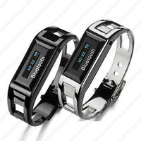 vibrating bracelet - A2 LCD Vibrating Alert Bluetooth Bracelet Watch for Cell Incoming Call Caller ID