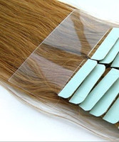 "Cheap GRADE 4A tape hair skin weft queen brazilian virgin hair 100g bag color balck 1 2 4 6 8 blonde 60 613 length 14"" - 26"" DHL free shipping"