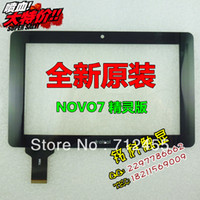 Wholesale New inch Capacitive touch screen digitizer touch panel glass for Ainol novo7 elf II Novo elf2 elf tablet pc code