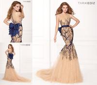 Cheap Tarik Ediz Prom Dresses Best royal blue evening gowns