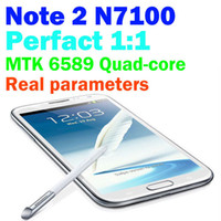 Wholesale N7100 quot Android Phone Dual SIM MTK6572 Dual Core WiFi Bluetooth Camera hdc efit Cheap Unlocked Note II Smart Mobile Cell Phone