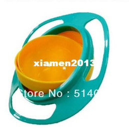 Wholesale 2013New arrival Hot Sale New Children Kid Baby Toy Universal Rotate Spill Proof Bowl Dishes