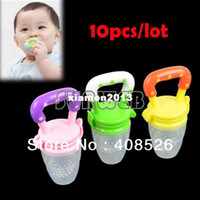 Wholesale 10pcs New Baby Supplies Fresh Food Nibbler Feeder Feeding Tool Colors available