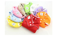 Wholesale 2014 Adjustable Baby Cloth Diaper Colorful Washable Cloth Diapers One Size Infant Baby Reusable Nappies Underwear B2836