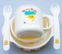 Wholesale Hot Selling Baby Infant feeding drinking Cup baby Sippy cups amp Spoon amp Bowl set