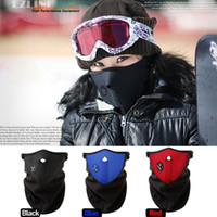 Wholesale New Neoprene Unisex Warm Half Face Mask Cover Neck Dustproof Guard Scarf CS Shield Ski Cycling W1017Z