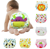 Wholesale Newest Cartoon layers Toddler Baby embrodered Training Pants Toddler cloth diaper pants baby underwear briefs