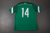 Wholesale 2014 World cup Top Thai Quality Mexico CHICHARITO Home Green Jersey Football Jerseys Soccer Jersey Top Soccer Thailand Shirts