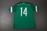 2014 Copa del Mundo Top Thai Calidad México Chicharito # 14 Home Jersey verde Fútbol Jerseys Soccer Jersey Top Fútbol Tailandia Camisetas