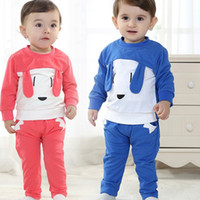Cheap 4 Set lot + New Arrival 2014 Baby Toddler Clothing High Quality Cotton long-sleeved Outdoor Sports Cartoon Suit Outfits For Spring Autumn